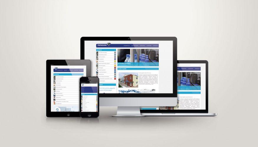 Pentaclean responsive webdesign