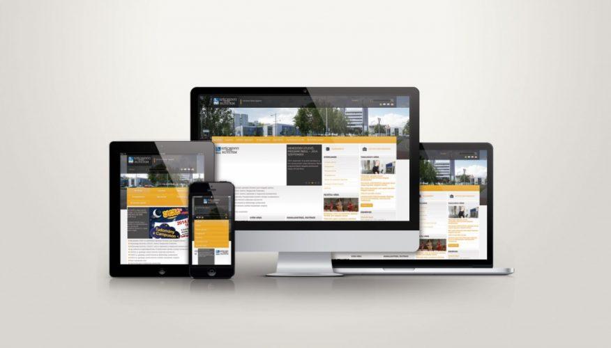 Széchenyi István Egyetem responsive webdesign