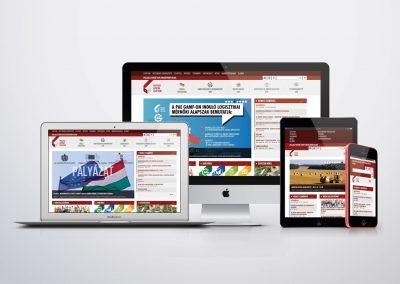 Pallas Athene Egyetem webdesign