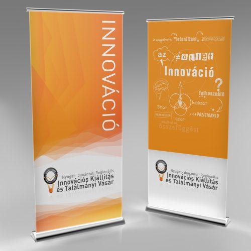 Innovációs kiállitás és találmányi vásár rollup