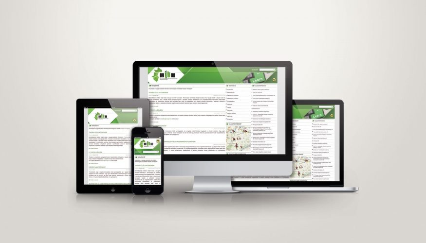 NYITOK klaszter weboldal design