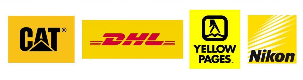 A sárga vidám és feltűnő szín, ezt használják ki a következő cégek