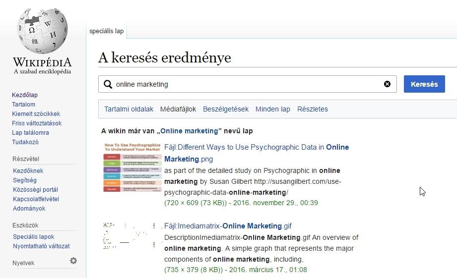 Wikipédia képkeresés