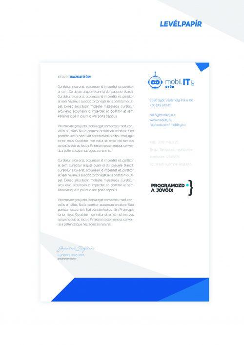 MobilIT Brand board levélpapír