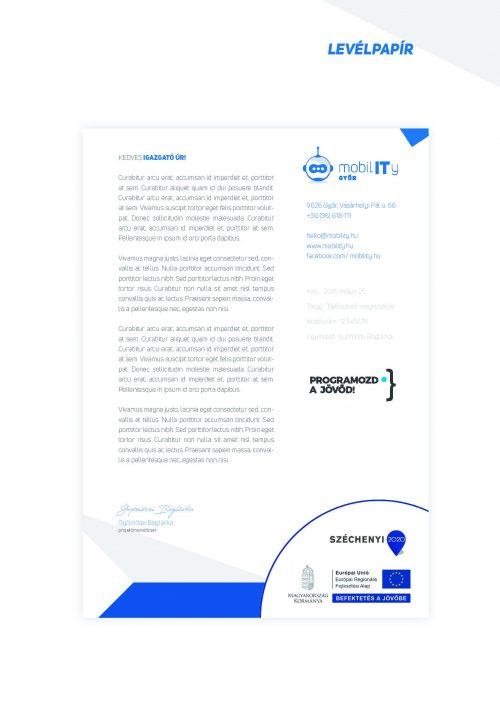 MobilIT Brand board levélpapír infoblokkal