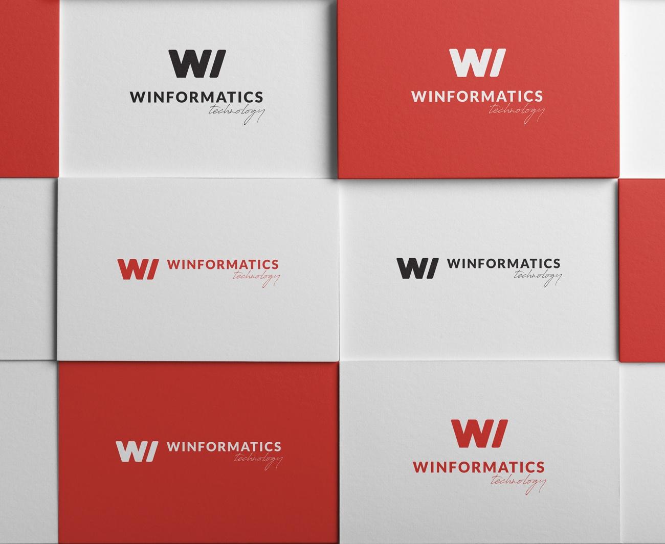 Winformatics logó tervezése, arculattervezése, Brand Board készítése