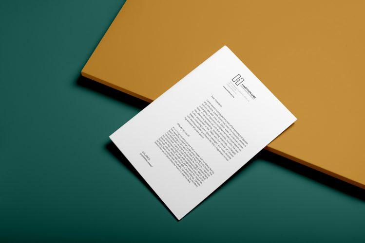 harthmann levélpapír tervezése