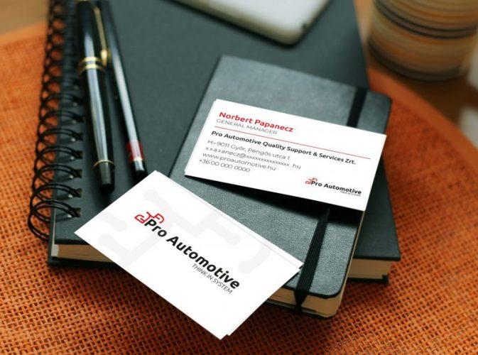 Pro Automotive névjegykártya-tervezés